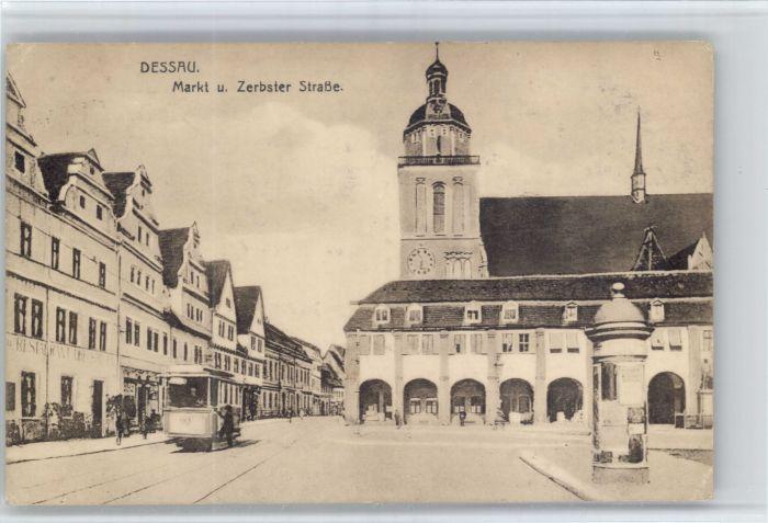ak dessau hauptbahnhof mit strassenbahn nr 7892587 oldthing ansichtskarten deutschland plz. Black Bedroom Furniture Sets. Home Design Ideas