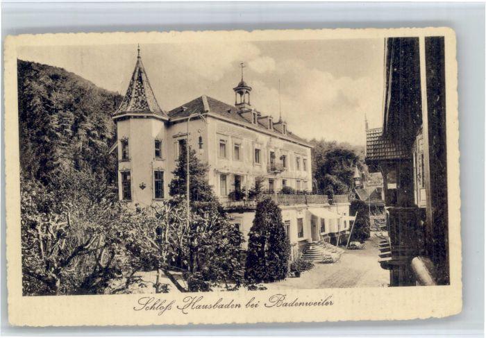 Badenweiler Badenweiler Schloss Hausbaden * / Badenweiler /Breisgau-Hochschwarzwald LKR