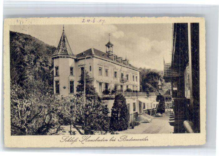 Badenweiler Badenweiler Schloss Hausbaden x / Badenweiler /Breisgau-Hochschwarzwald LKR