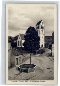 Britzingen Britzingen Kirche Brunnen * / Muellheim /Breisgau-Hochschwarzwald LKR