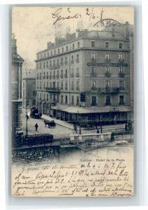 Genf GE Genf Hotel de la Poste Kutsche x / Genf /Bz. Geneve City