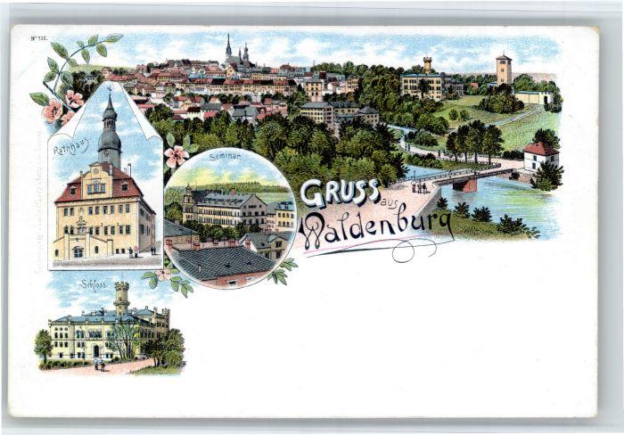 Waldenburg Sachsen Waldenburg Sachsen Rathaus Seminar Schloss * / Waldenburg Sachsen /Zwickau LKR