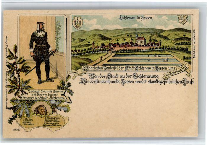 Hessisch Lichtenau Hessisch Lichtenau Landgraf Heinrich * / Hessisch Lichtenau /Werra-Meissner-Kreis LKR