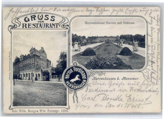 Herrenhausen Hannover Herrenhausen Hannover Restaurant Garten Schloss Siegel x / Hannover /Region Hannover LKR
