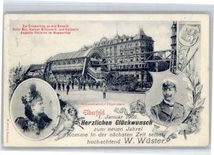 Elberfeld Wuppertal Elberfeld Kaiser Wilhelm II Kaiserin Augusta Viktoria Wuppertal Schwebebahn Doeppersberg x / Wuppertal /Wuppertal Stadtkreis