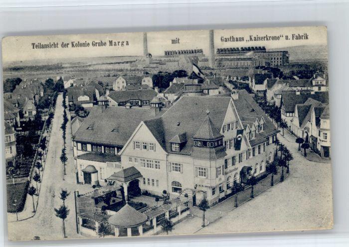 30910180 Grube Marga Grube Marga Kolonie Gasthaus Kaiserkrone Fabrik x Senftenbe Grube_Marga