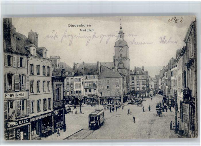 Diedenhofen Diedenhofen Strassenbahn Marktplatz * / Thionville /Arrond. de Thionville-Est