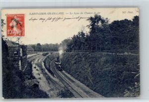 Saint-Germain-en-Laye Saint-Germain-en-Laye Ligne Chemin Fer Eisenbahn x / Saint-Germain-en-Laye /Arrond. de Saint-Germain-en-Laye