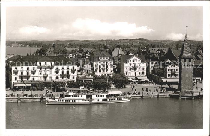 Lindau Bodensee Hafen Dampfer  / Lindau (Bodensee) /Lindau LKR