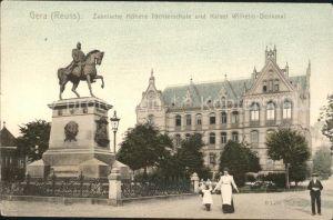Gera Zabelsche Toechterschule Kaiser Wilhelm-Denkmal / Gera /Gera Stadtkreis