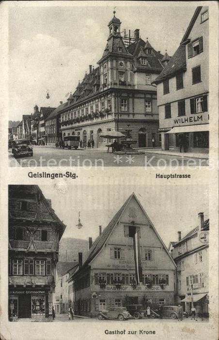 Geislingen Steige Hauptstrasse Gasthof zur Krone  / Geislingen an der Steige /Goeppingen LKR
