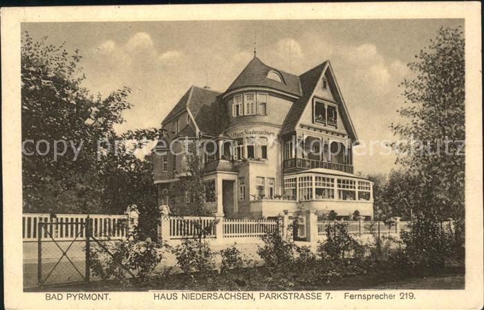Bad Pyrmont Haus Niedersachsen Parkstrasse 7  / Bad Pyrmont /Hameln-Pyrmont LKR