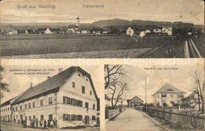 Raisting Totalansicht Pfarrhof Schulhaus Gasthaus Metzgerei zur Post  / Raisting /Weilheim-Schongau LKR