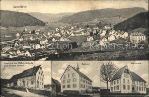 Lenzkirch Gasthaus Loeffelschmiede Rathaus Schulhaus / Lenzkirch /Breisgau-Hochschwarzwald LKR