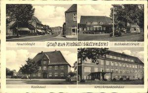 Niebuell Hauptstrasse Bahnhofstrasse Rathaus Kreiskrankenhaus / Niebuell /Nordfriesland LKR