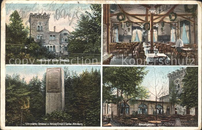Gotha Thueringen Etablissement Kleiner Seeburg Sternwarte Denkmal v. Herzog Ernst II Gotha Altenburg  / Gotha /Gotha LKR