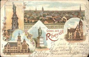 Rheydt Rathaus Hohenzollern Brunnen Kaiser Wilhelm Denkmal Neue Post / Moenchengladbach /Moenchengladbach Stadtkreis