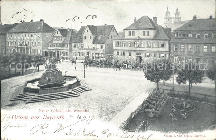 Bayreuth Neuer Schlossplatz Westseite / Bayreuth /Bayreuth LKR