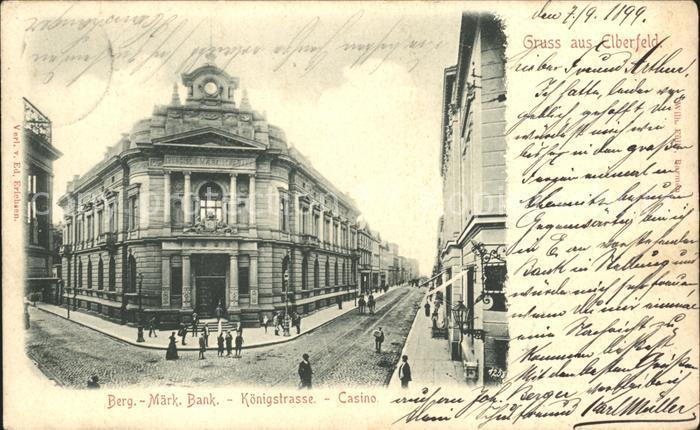 Elberfeld Wuppertal Berg.- Maerk. Bank Koenigstrasse Casino / Wuppertal /Wuppertal Stadtkreis