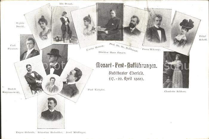 Elberfeld Wuppertal Mozart Fest Auffuehrungen Stadttheater  / Wuppertal /Wuppertal Stadtkreis