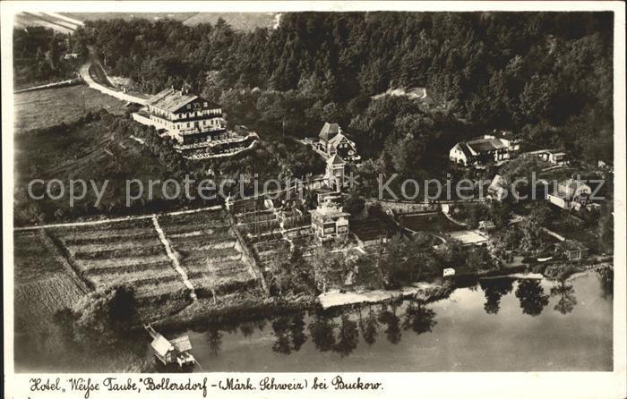 Bollersdorf Fliegeraufnahme Hotel Weisse Taube / Oberbarnim /Maerkisch-Oderland LKR