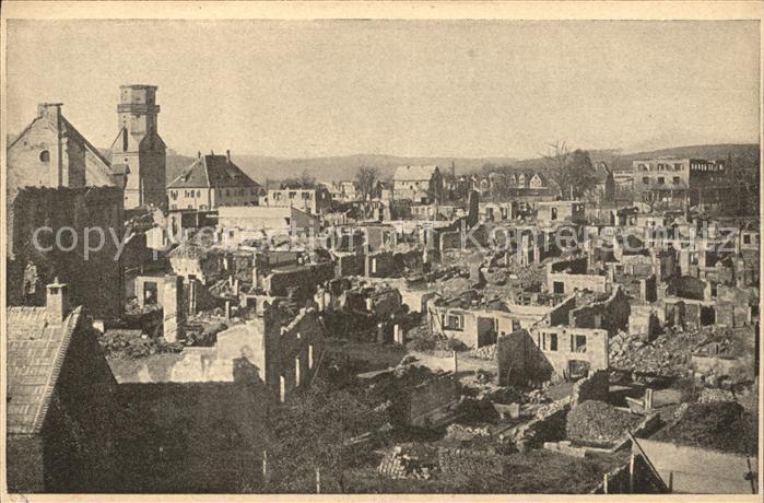 Freudenstadt nach Brandkatastrophe 1945 / Freudenstadt /Freudenstadt LKR