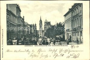 Krefeld Rheinstrasse mit Dionysiuskirche / Krefeld /Krefeld Stadtkreis