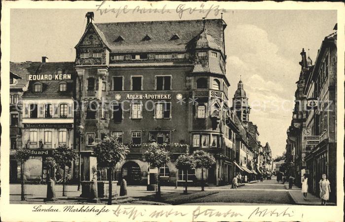 Landau Pfalz Marktstrasse / Landau in der Pfalz /Landau Pfalz Stadtkreis