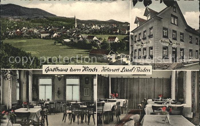 Lauf Baden Gasthaus zum Hirsch / Lauf /Ortenaukreis LKR
