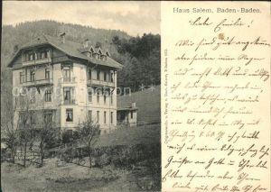 Baden-Baden Haus Salem / Baden-Baden /Baden-Baden Stadtkreis