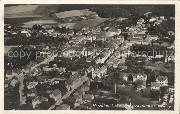 Herrnhut Fliegeraufnahme Junkers Luftbild Nr. 29787 / Herrnhut /Goerlitz LKR
