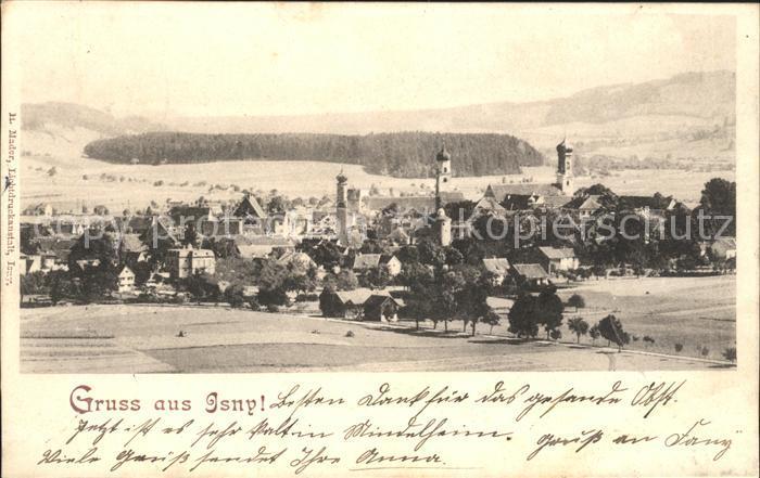 Isny Allgaeu Ortsansicht mit Kirche / Isny im Allgaeu /Ravensburg LKR