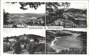 Gummersbach Gesamtansicht Rathaus Grotenbach Aggertalsperre / Gummersbach /Oberbergischer Kreis LKR