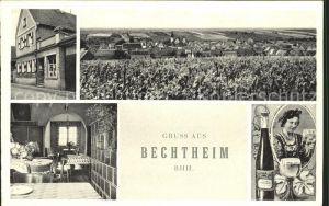 Bechtheim Rheinhessen Gasthaus zur Krone und Kolonialwaren Theodor Foerst / Bechtheim /Alzey-Worms LKR