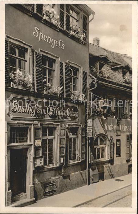 Heidelberg Neckar Gasthaus zum roten Ochsen / Heidelberg /Heidelberg Stadtkreis