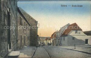 Nebra Unstrut Breite Strasse / Nebra Unstrut /Burgenlandkreis LKR