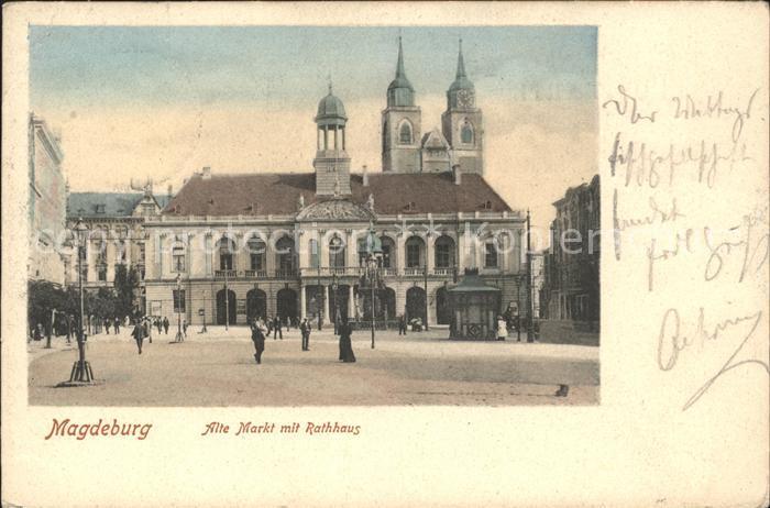 Magdeburg Alter Markt mit Rathaus / Magdeburg /Magdeburg Stadtkreis