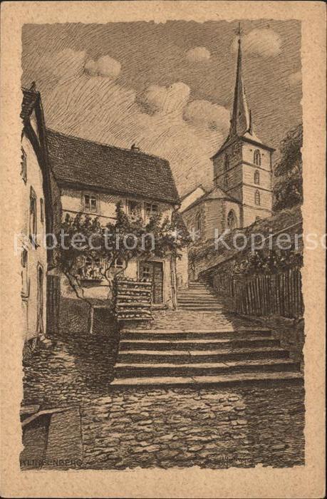 Klingenberg Main Kirchenstrasse Kuenstlerkarte / Klingenberg a.Main /Miltenberg LKR
