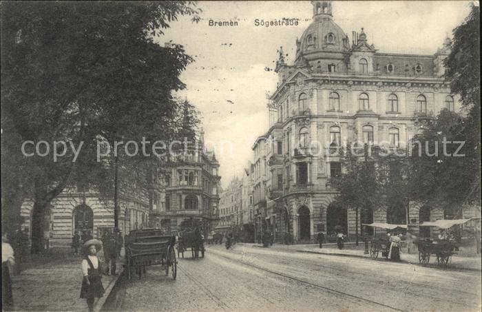 Bremen Soegestrasse Pferdekutschen / Bremen /Bremen Stadtkreis