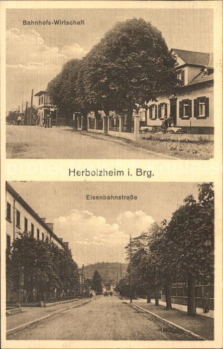 Herbolzheim Breisgau Bahnhofswirtschaft Eisenbahnstrasse / Herbolzheim /Emmendingen LKR