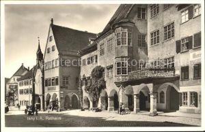 Isny Allgaeu Rathaus / Isny im Allgaeu /Ravensburg LKR