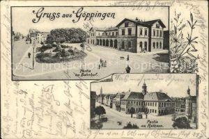 Goeppingen Partie am Bahnhof  Partie am Rathaus  / Goeppingen /Goeppingen LKR