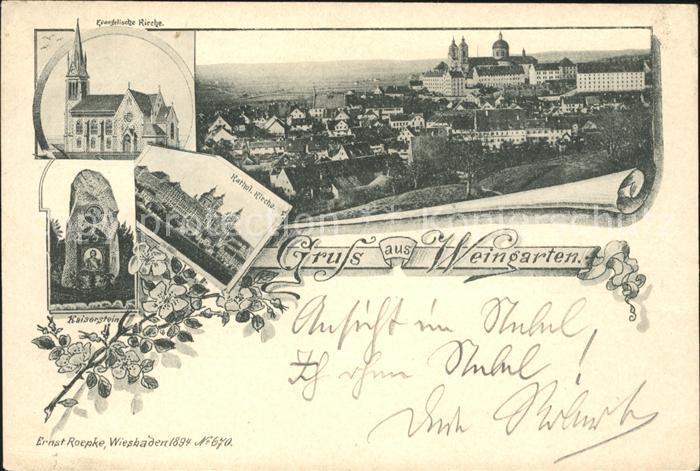 Weingarten Wuerttemberg Ev. Kirche Kath. Kirche Kaiserstein / Weingarten /Ravensburg LKR