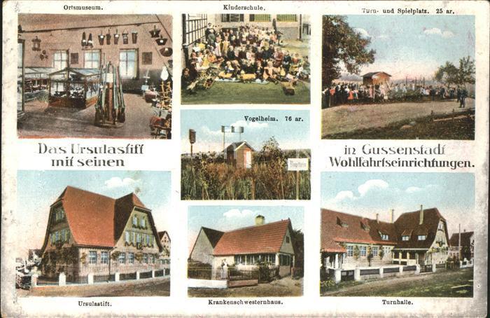 Gussenstadt Kinderschule Turn und Spielplatz Ursulaanstift Ortmuseum Vogelheim / Gerstetten /Heidenheim LKR