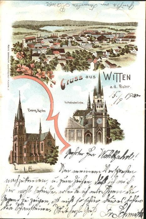 Witten Ruhr Ev.Kirche Kath. Kirche  / Witten Ruhr /Ennepe-Ruhr-Kreis LKR