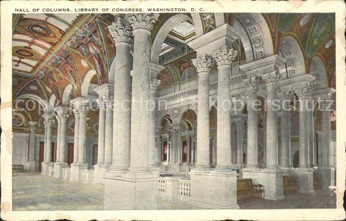 Washington DC Hall of Columns Library of Congress Kat. Washington