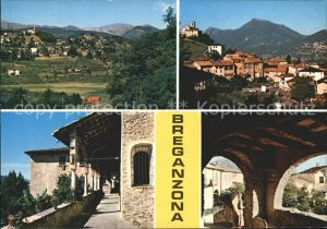 Breganzona Lugano Panorama Dorfpartien Kat. Breganzona