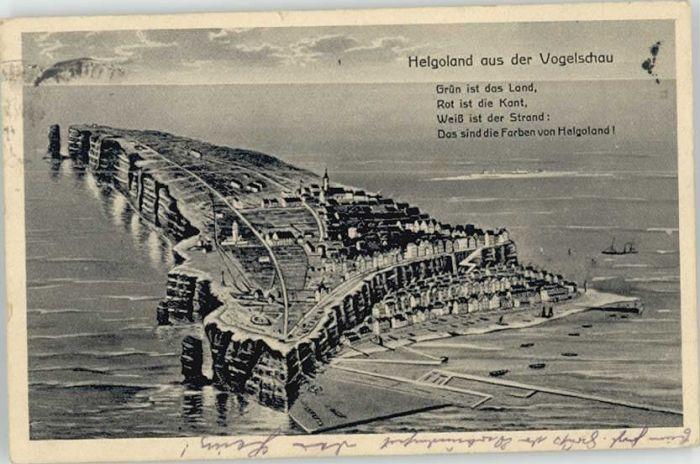 Helgoland Helgoland Fliegeraufnahme x 1920 / Helgoland /Pinneberg LKR