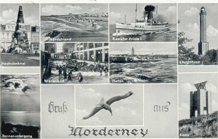 Norderney Nordseebad Norderney Dampfer Frisia  x 1955 / Norderney /Aurich LKR