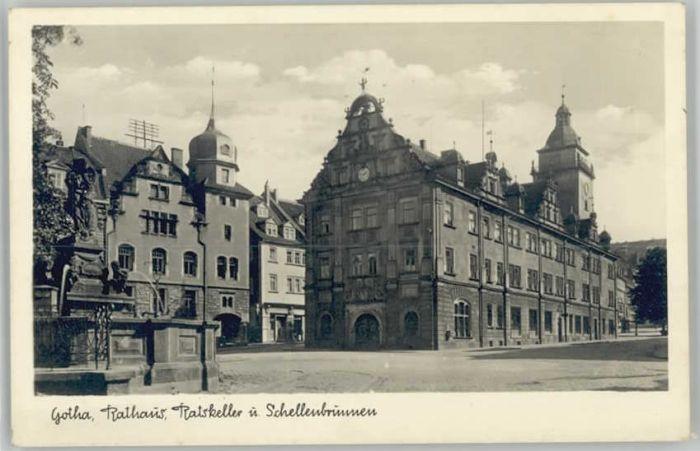 Gotha Thueringen Gotha Rathaus Schellenbrunnen * / Gotha /Gotha LKR